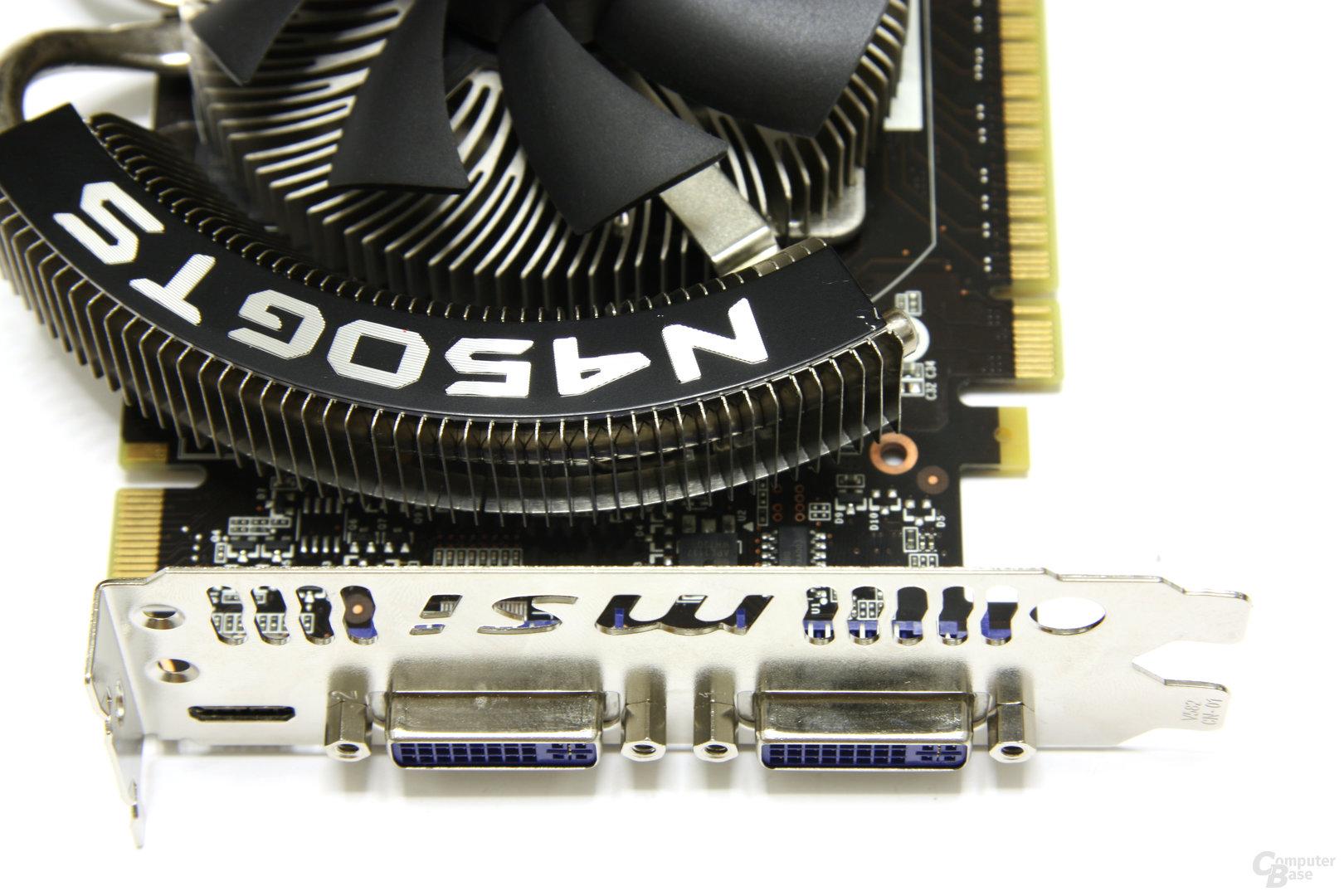 GeForce GTS 450 Cyclone OC Anschlüsse