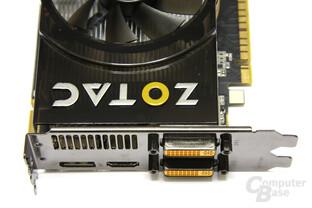 GeForce GTS 450 AMP! Anschlüsse
