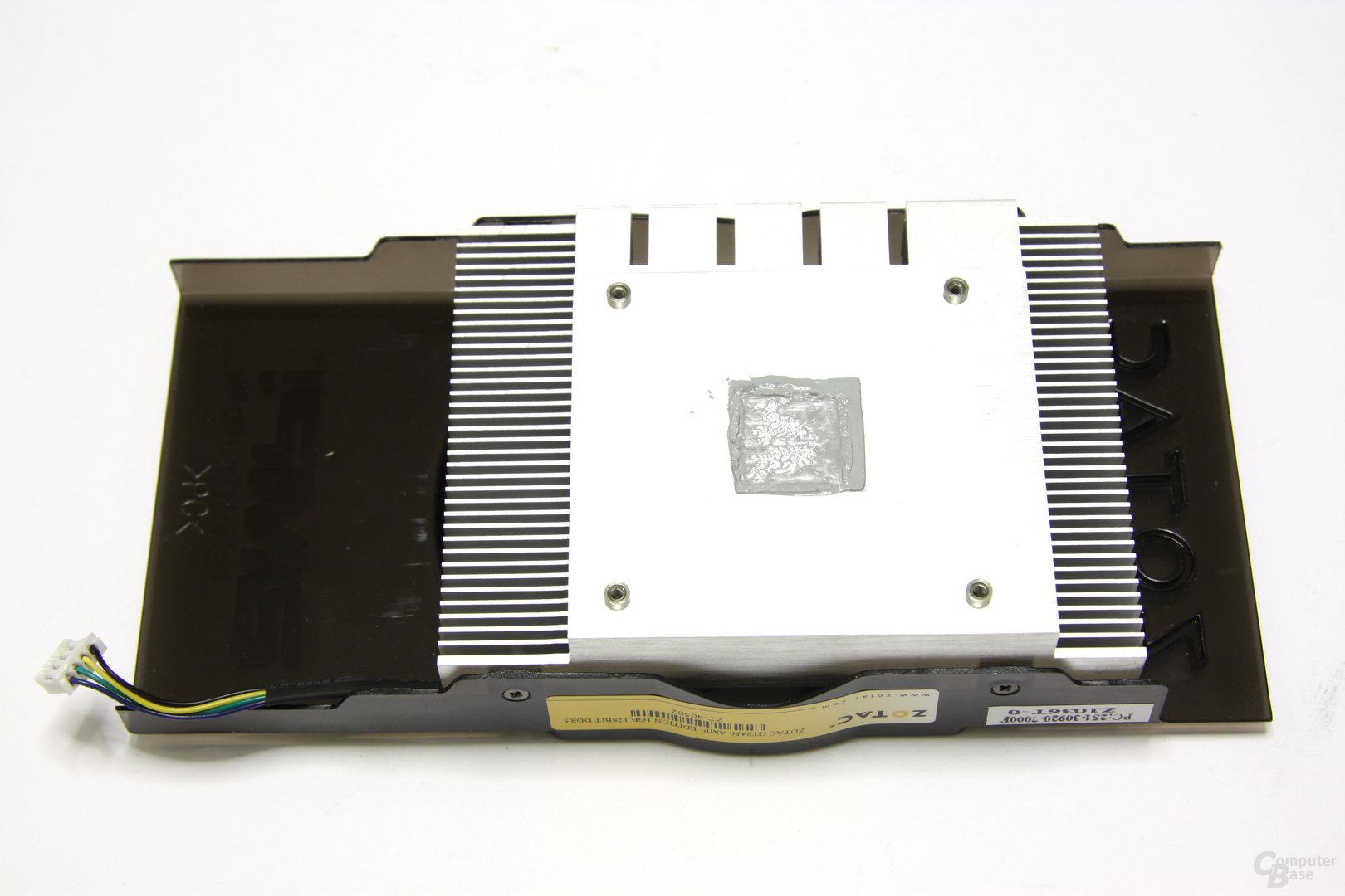 GeForce GTS 450 AMP! Kühlerrückseite