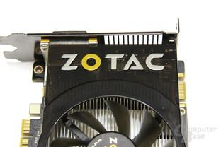 GeForce GTS 450 AMP! Zotac-Schriftzug
