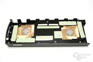 Radeon HD 5970 Black LE Kühlerrückseite