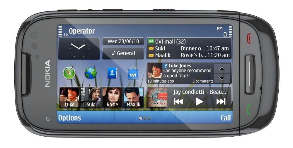 Nokia C7: Vorderseite