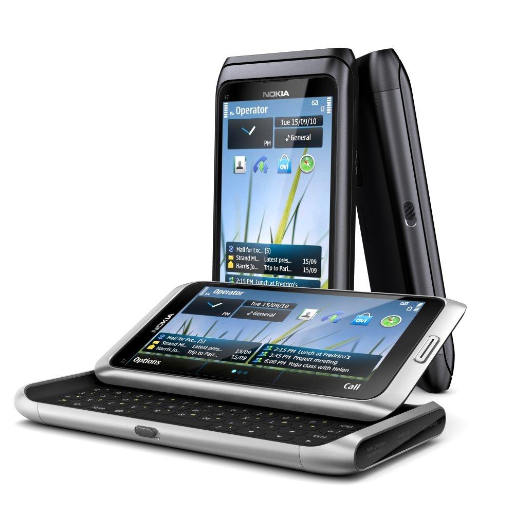 Nokia E7: Vorderseite und Tastatur