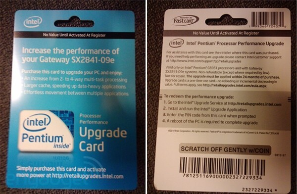 Upgrade Card im Handel