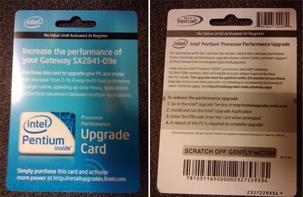 Upgrade Card im Handel