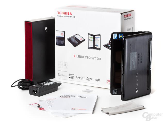 Lieferumfang des Toshiba Libretto W100