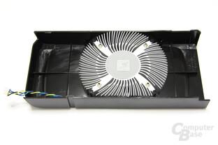 GeForce GTS 450 FTW Kühlerrückseite