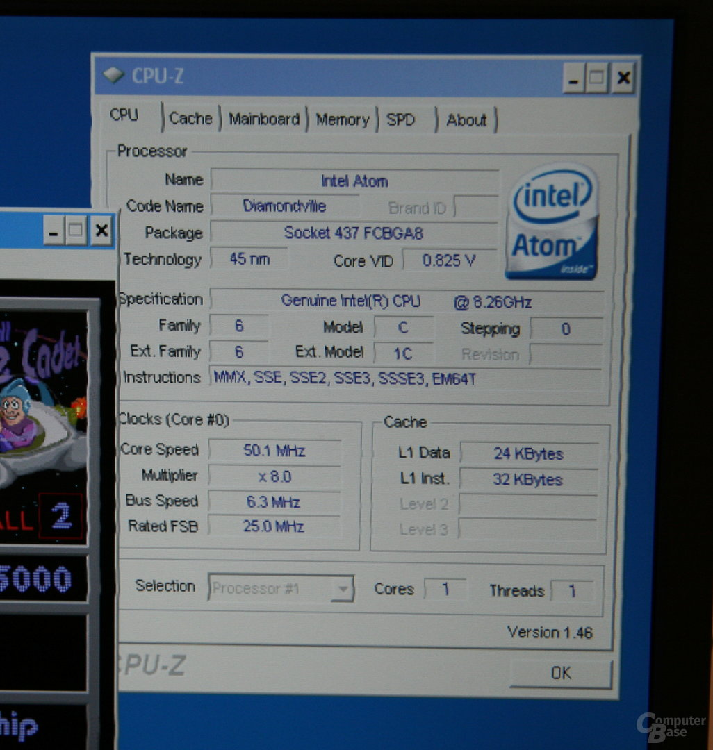 CPU-Z müht sich, liegt aber quasi immer falsch