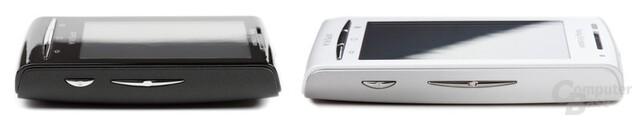 Xperia 10 mini (links) im Vergleich zum Xperia X8