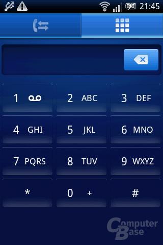 Xperia X8: Zifferntastatur zum Wählen