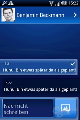 Xperia X8: SMS (an sich selbst)