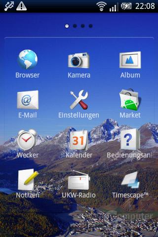 Xperia X8: App-Liste (1)