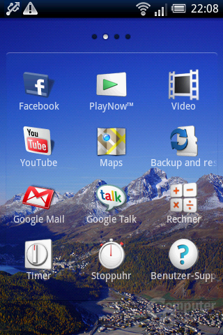 Xperia X8: App-Liste (2)