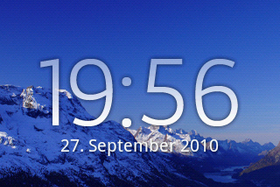 Xperia X8: Home-Screen
