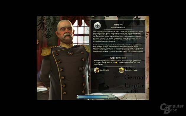 Civilization V Persönlichkeiten: Die Wahl hat keine größeren Auswirkungen