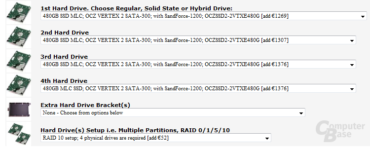 RAID 10 mit vier 480-GB-SSDs im Notebook - ComputerBase