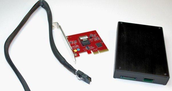 OCZ Ibis mit Kabel uns Adapterkarte | Quelle: HotHardware.com