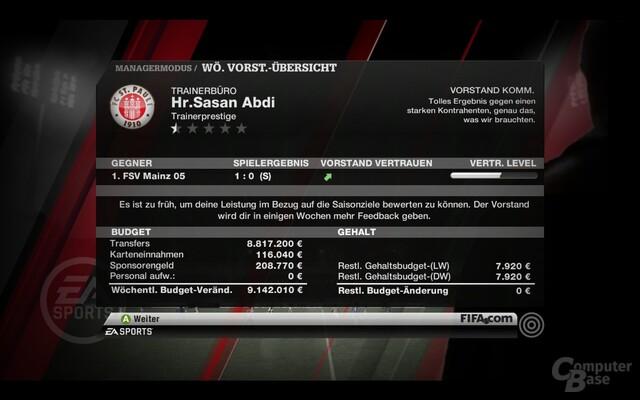 """Altbekannt aber gut: Der Managermodus in """"FIFA 11"""""""