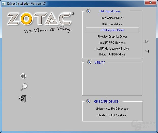 Zotac H55-ITX WiFi – Software