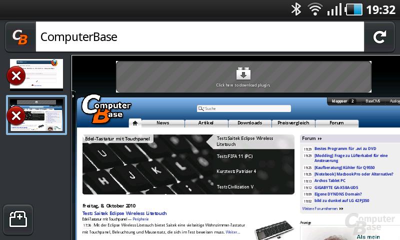 Firefox 4 Beta Tableiste