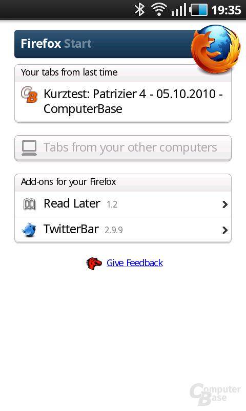 Firefox 4 Beta Awesome Screen