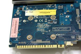 GeForce GT 430 Zone Edition GPU-Rückseite