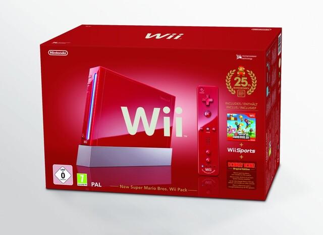 Mario-Jubiläums-Edition mit roter Wii