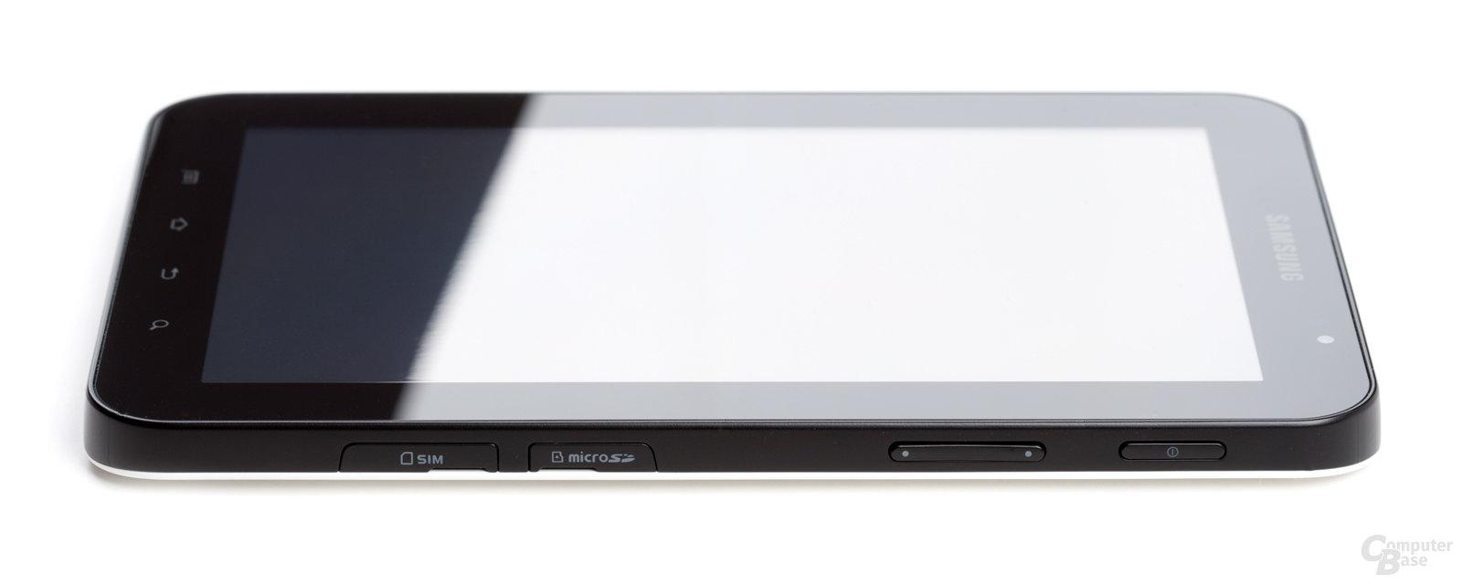 Samsung Galaxy Tab von der Seite
