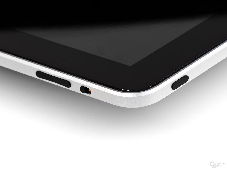 iPad: obere rechte Ecke (Ausschnitt)
