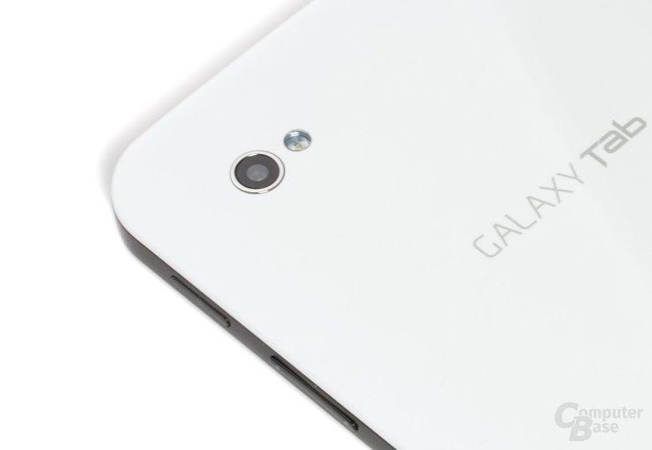 Gut trotz geringer Auflösung: Kamera auf dem Rücken des Galaxy Tab