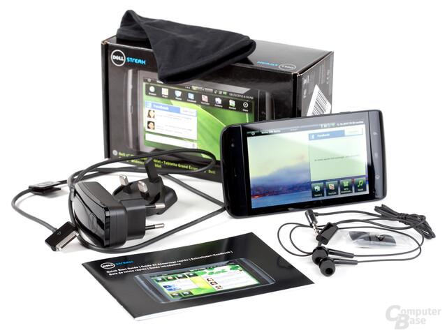 Dell Streak: Lieferumfang