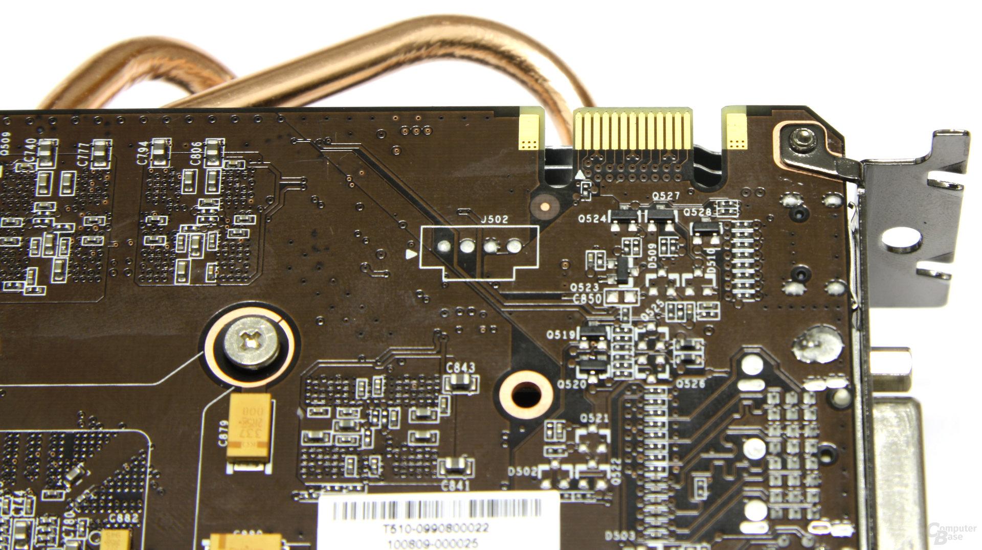 Calibre GTX 460 SLI-Anschluss