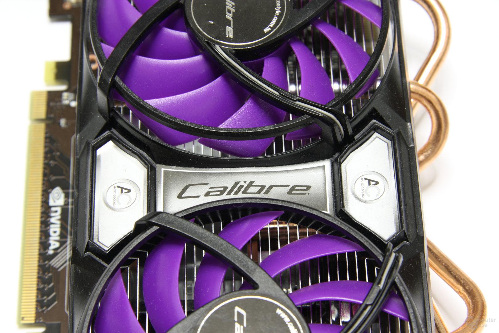 Calibre GTX 460 Schriftzug