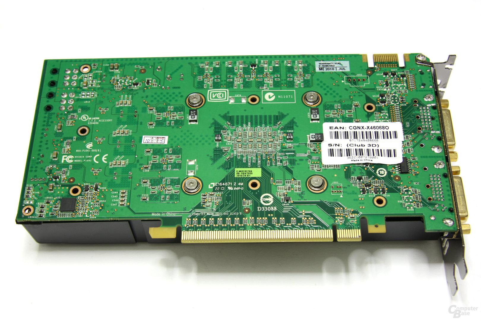 GeForce GTX 460 OC Rückseite