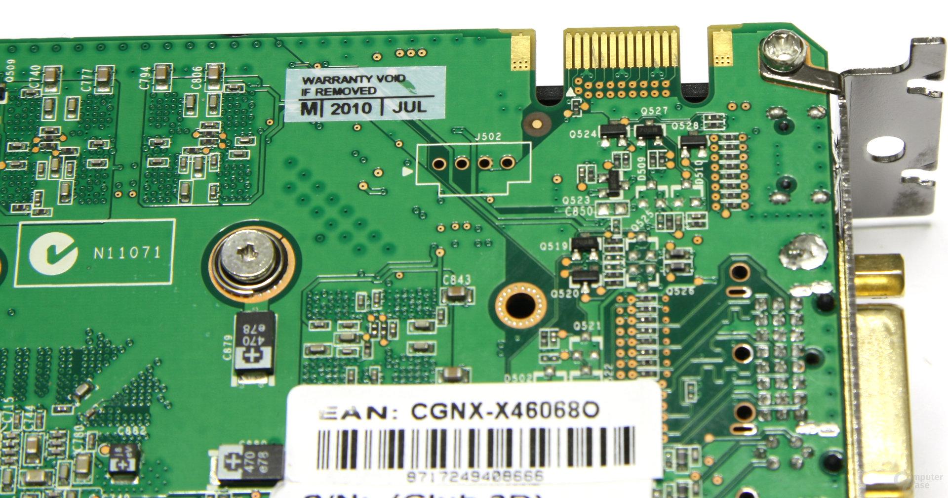GeForce GTX 460 OC SLI-Anschluss