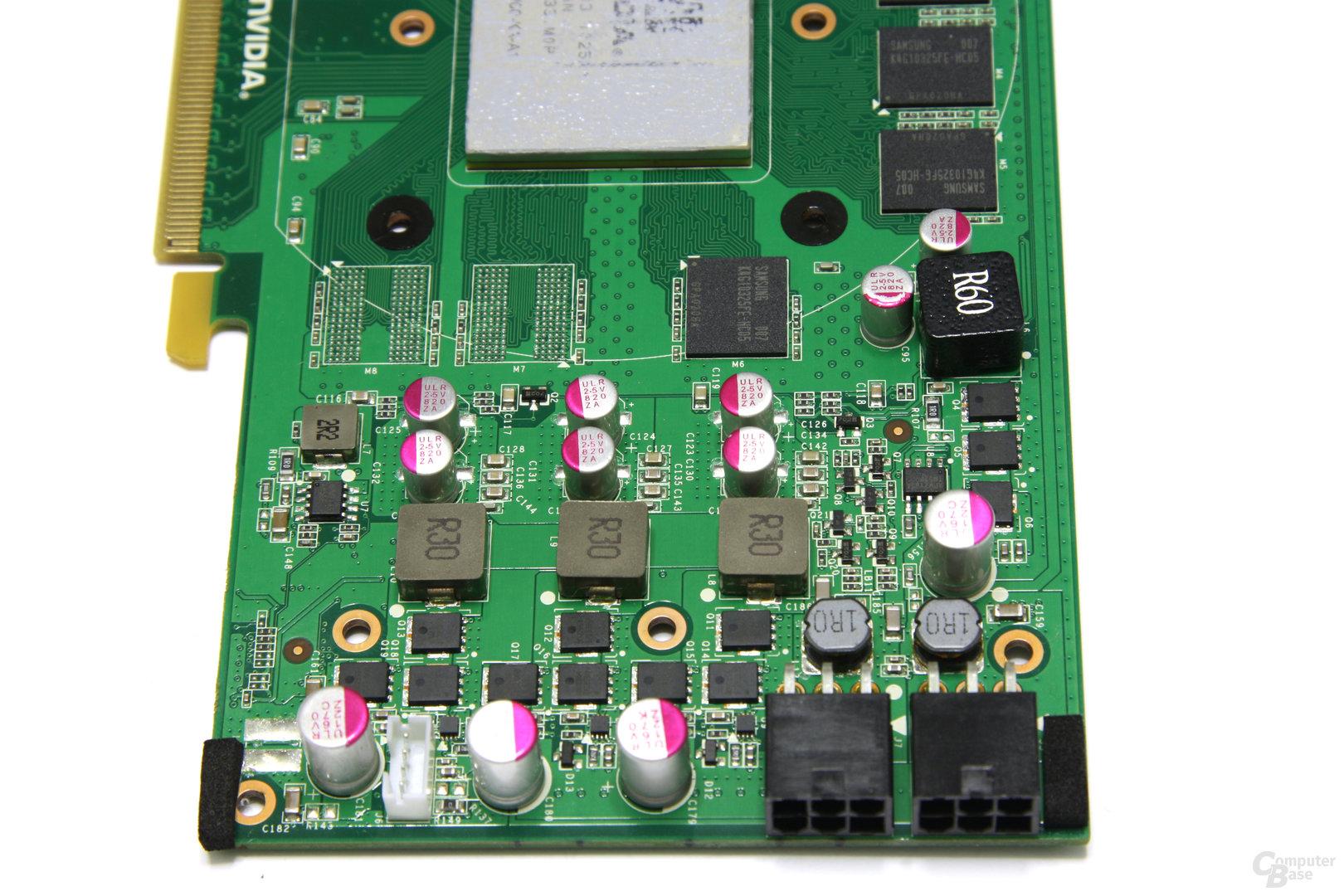 GeForce GTX 460 OC Stromversorgung