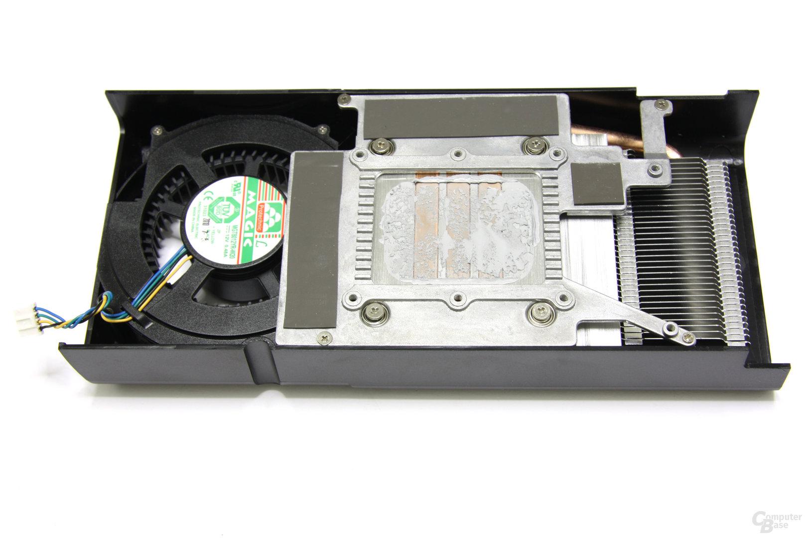 GeForce GTX 460 SC EE Kühlerrückseite
