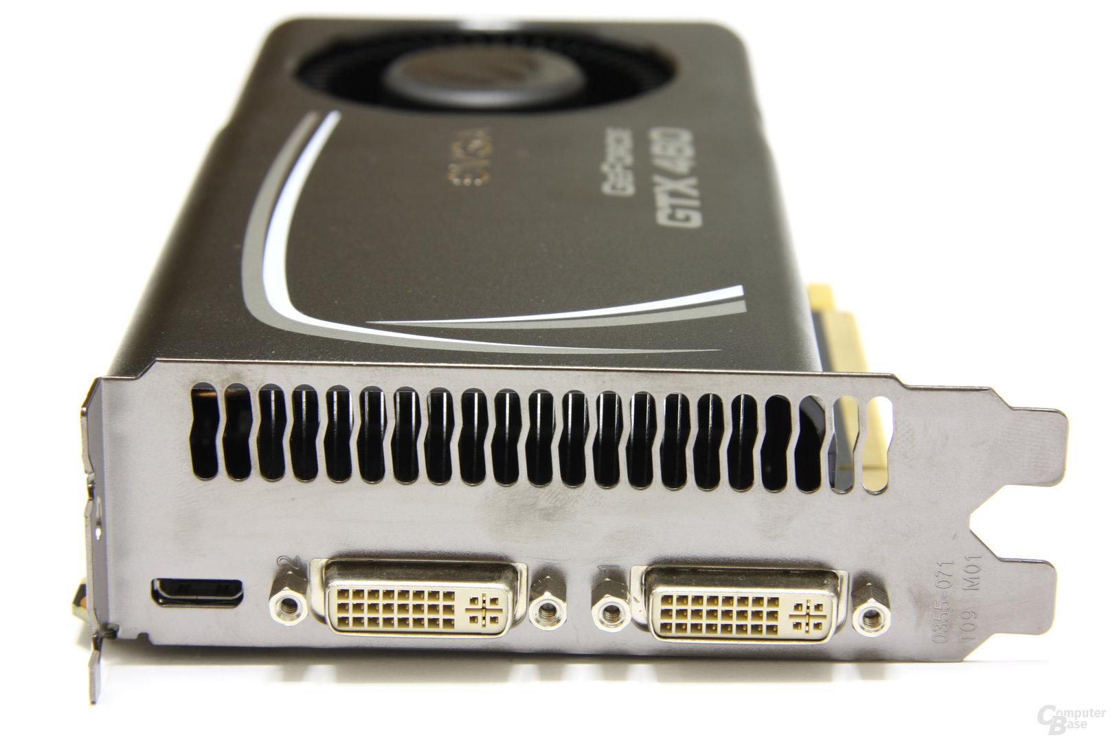 GeForce GTX 460 SC EE Slotblech