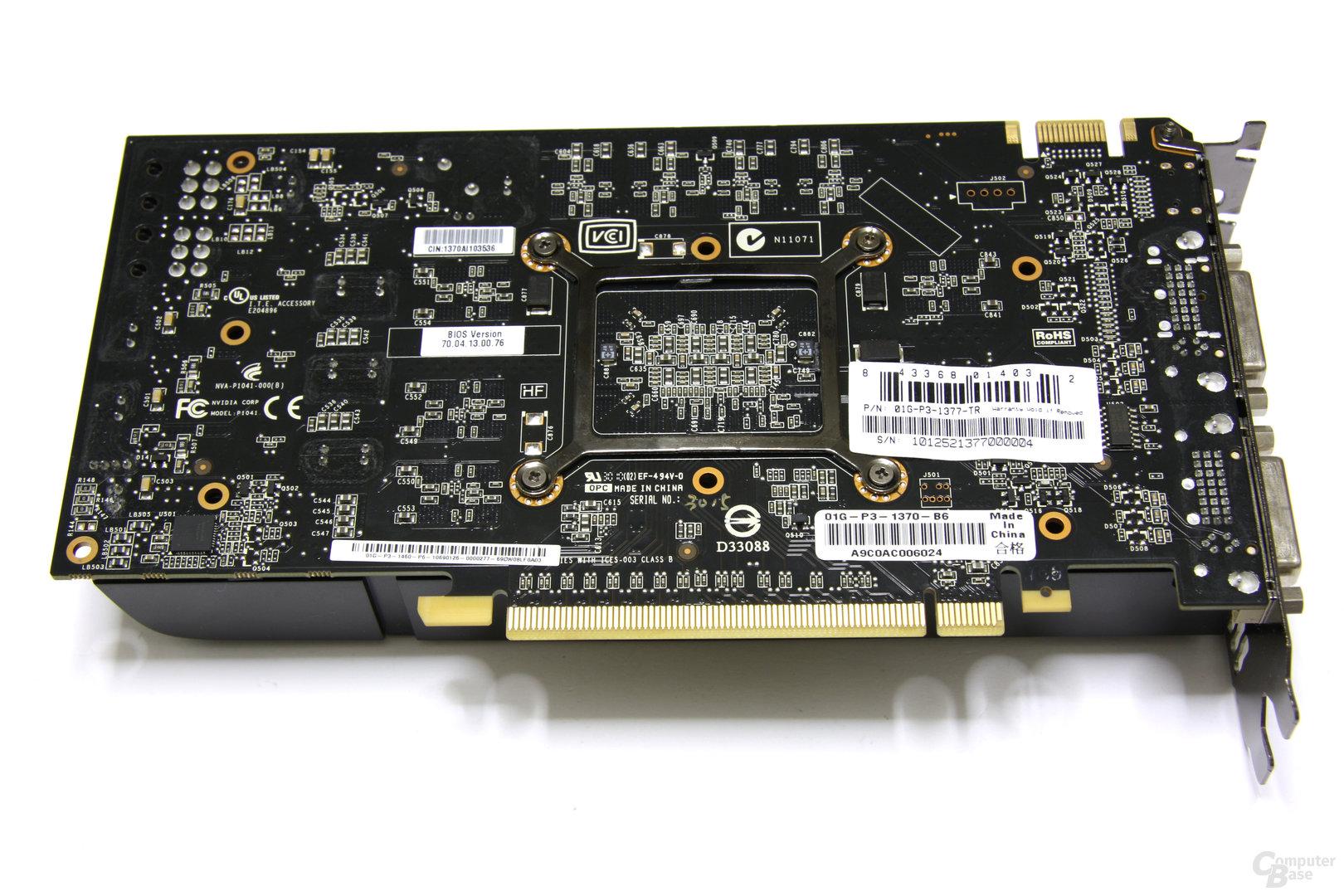 GeForce GTX 460 FTW Rückseite