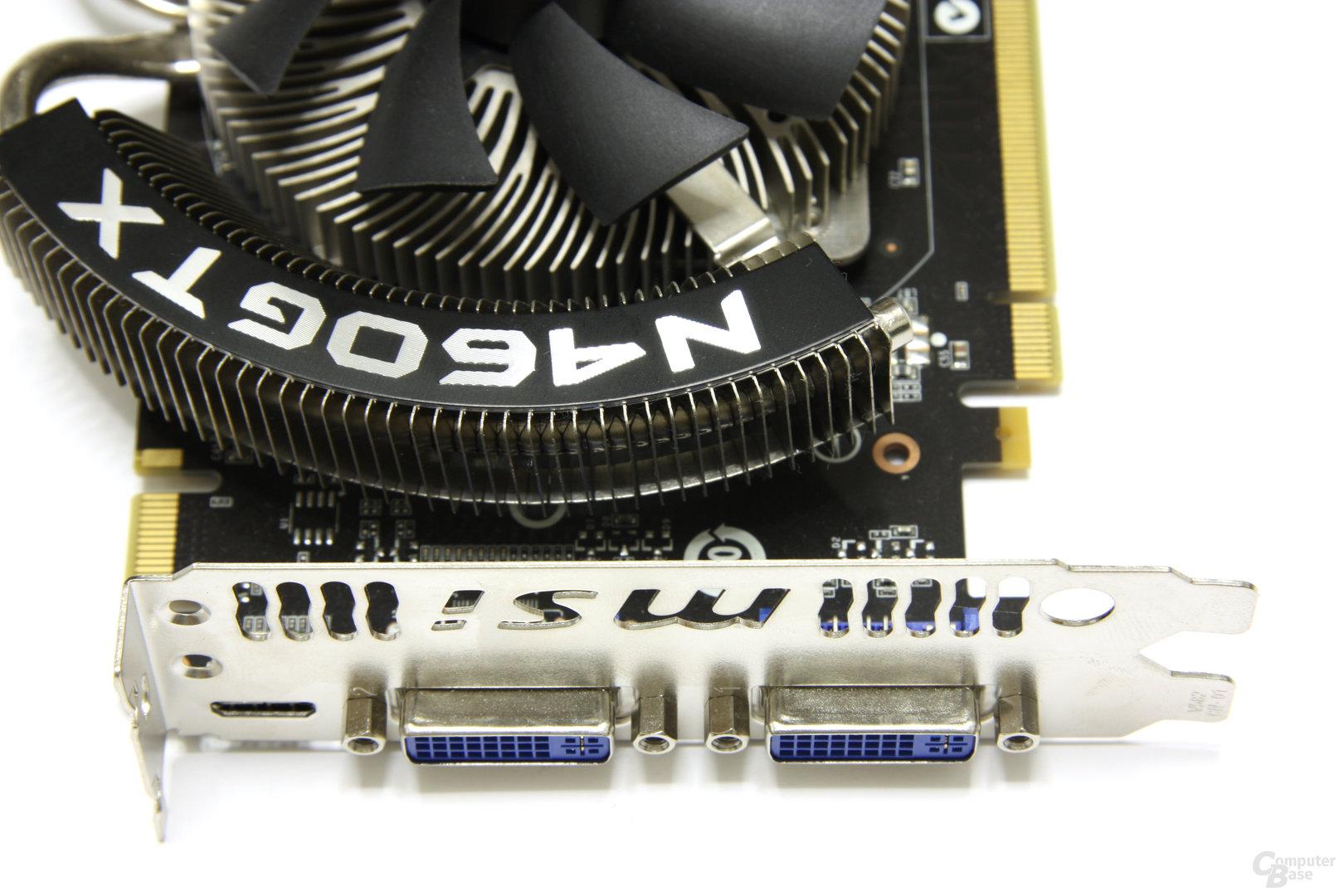 GeForce GTX 460 Cyclone OC Anschlüsse
