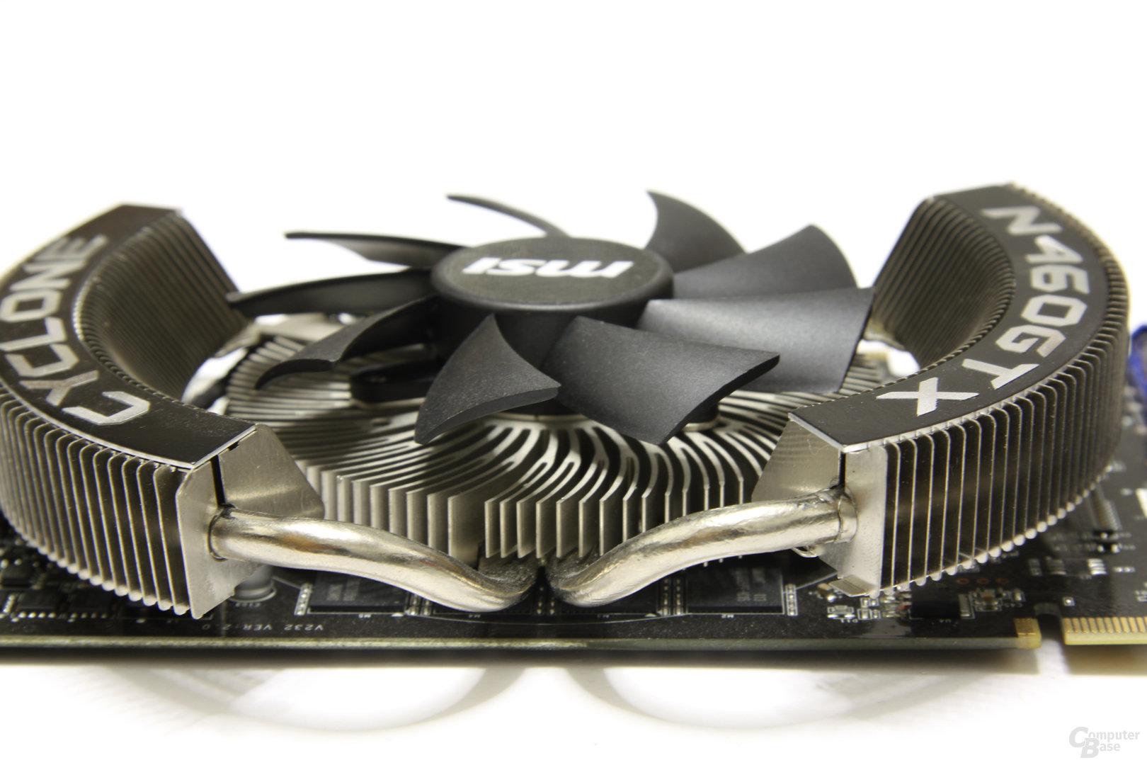 GeForce GTX 460 Cyclone OC Heatpipes