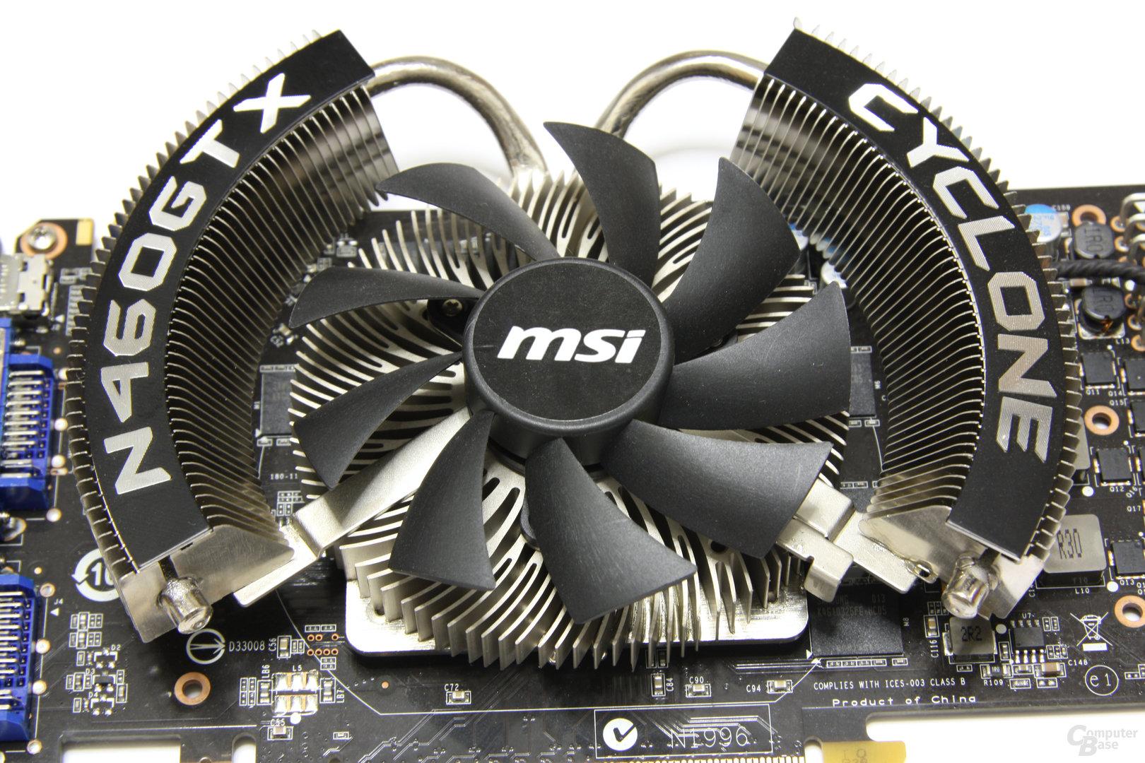 GeForce GTX 460 Cyclone OC Kühler