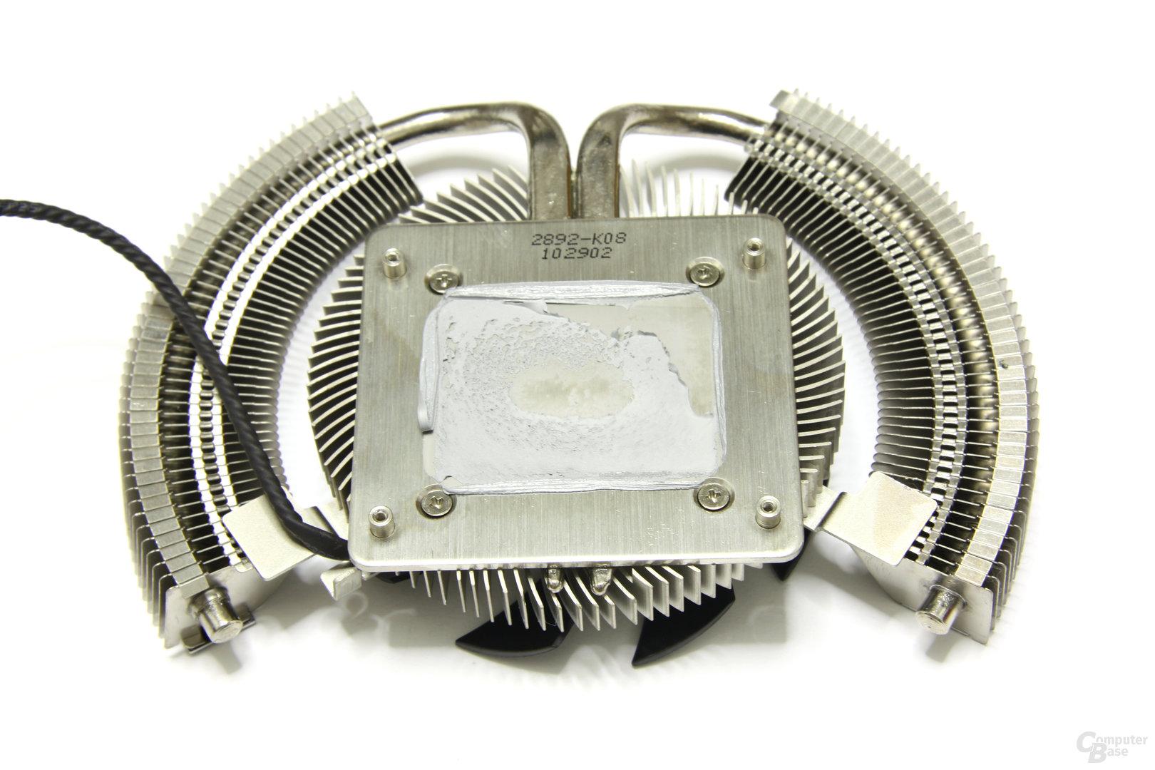 GeForce GTX 460 Cyclone OC Kühlerrückseite