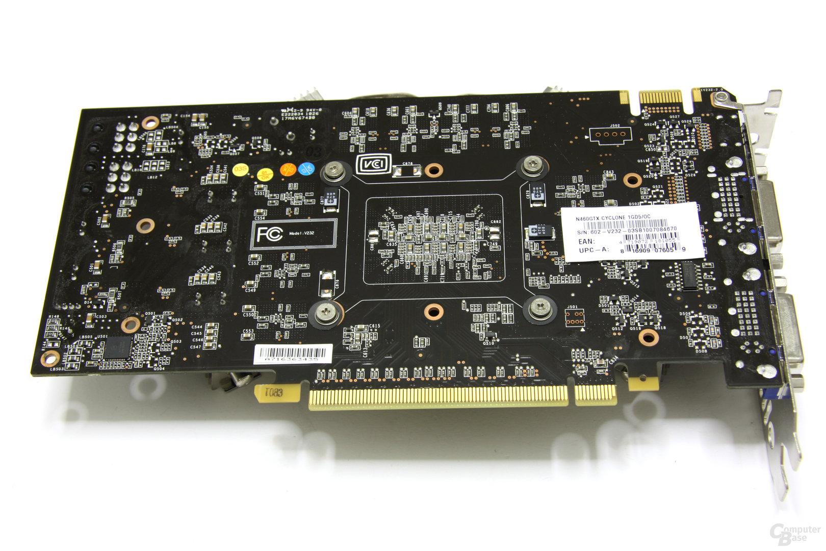 GeForce GTX 460 Cyclone OC Rückseite