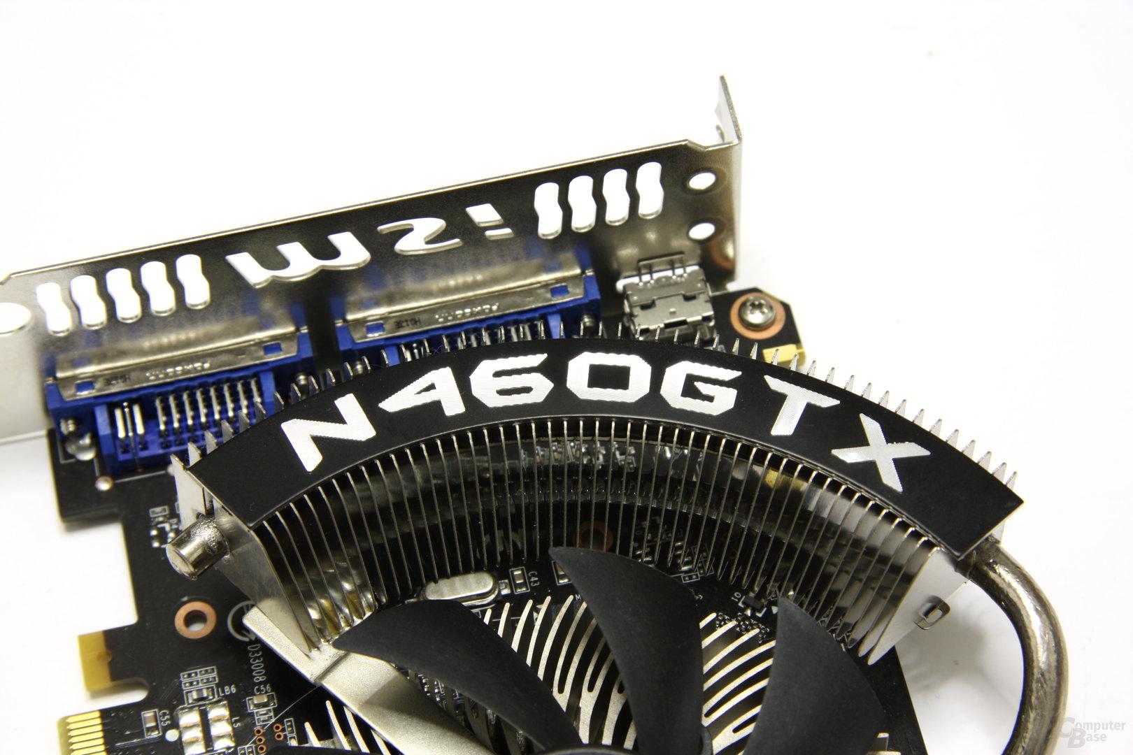 GeForce GTX 460 Cyclone OC Schriftzug