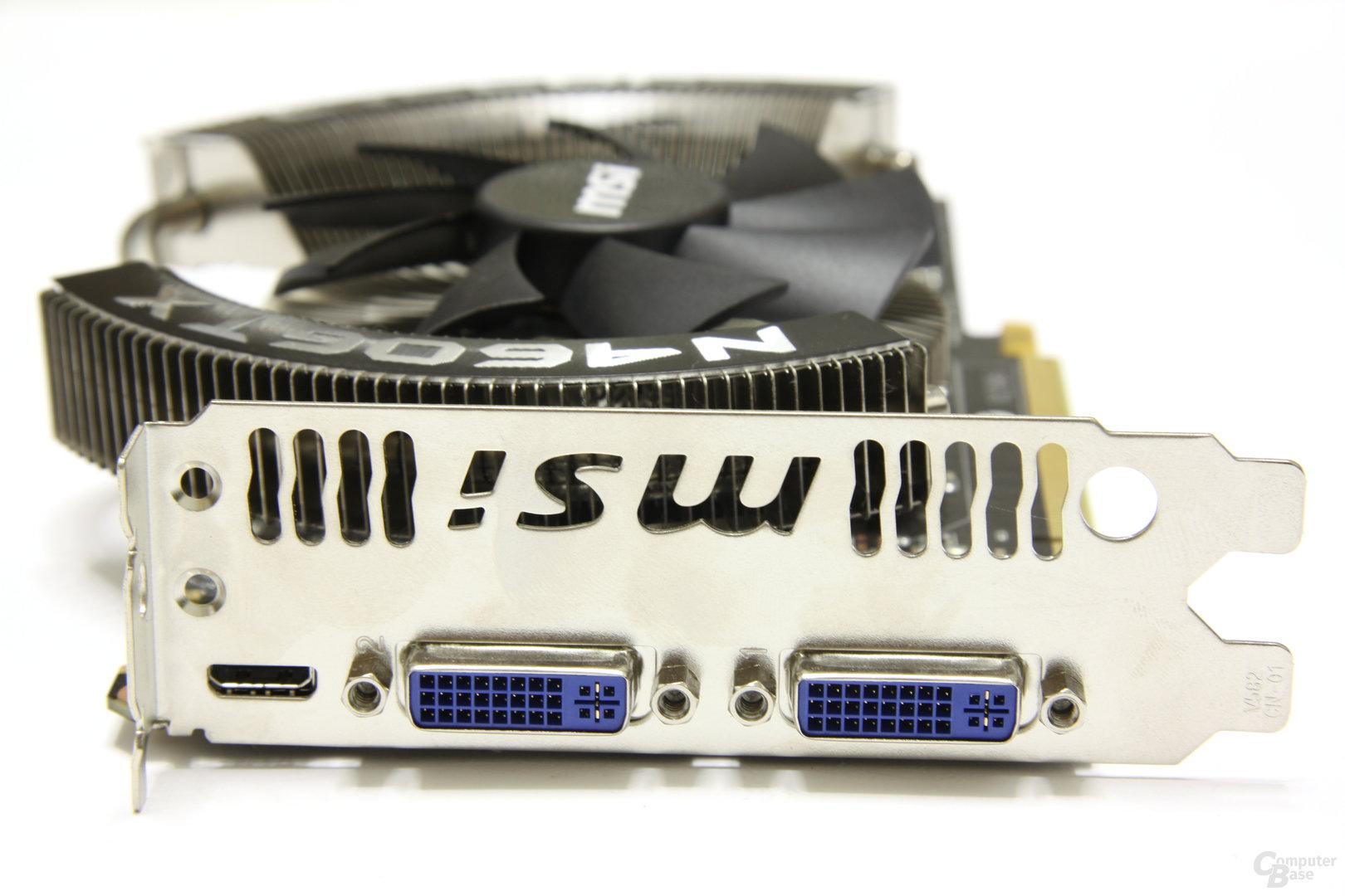 GeForce GTX 460 Cyclone OC Slotblech