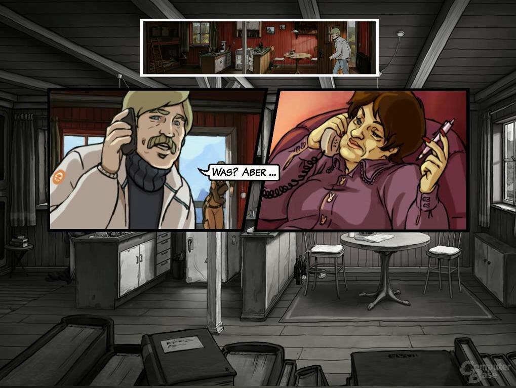 Protagonist Bent im Gespräch mit seiner Psychologin