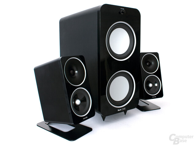 teufel concept d 500 thx im test 2 1 system mit. Black Bedroom Furniture Sets. Home Design Ideas