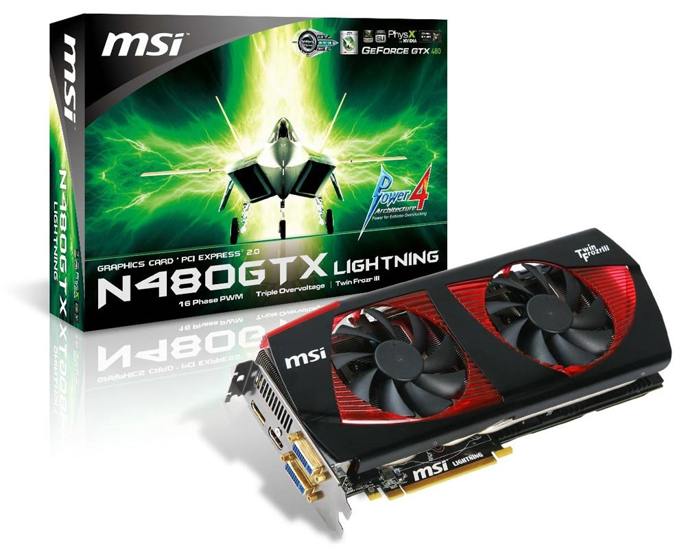 MSI N480GTX Lightning