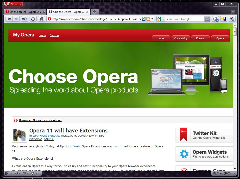 Opera 11 Alpha